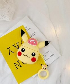 Pokemon Pikachu Pink Hat Premium AirPods Case Shock Proof Cover