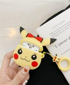 Pokemon Pikachu Red Bow Premium AirPods Case Shock Proof Cover