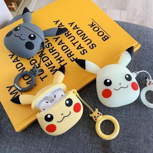 Pokemon White Pikachu Premium AirPods Case Shock Proof Cover