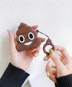 Poop Emoji Premium AirPods Case Shock Proof Cover