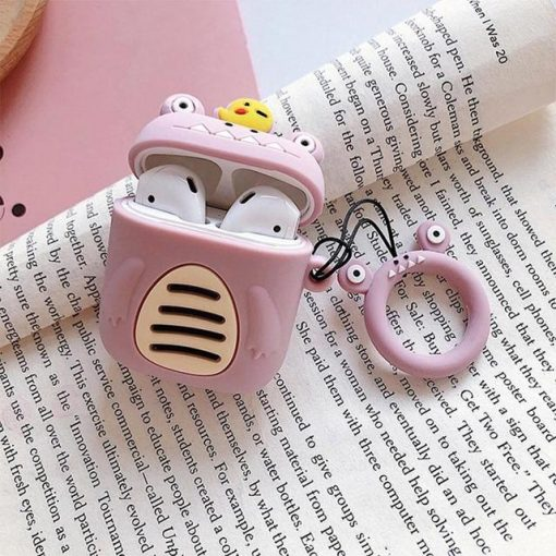 Purple Little Monster AirPods Case Shock Proof Cover