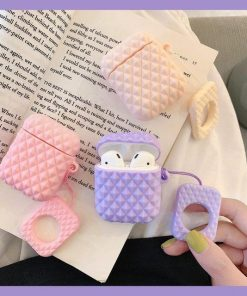 Purple Textured AirPod Case Shock Proof Cover