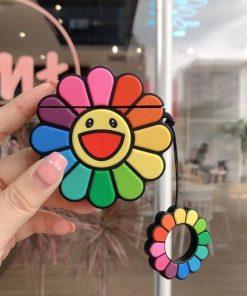 Rainbow Happy Sunflower Premium AirPods Case Shock Proof Cover