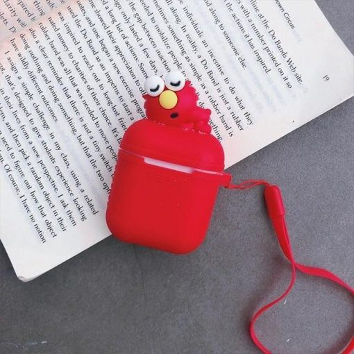 Red Baby Elmo AirPods Case Shock Proof Cover