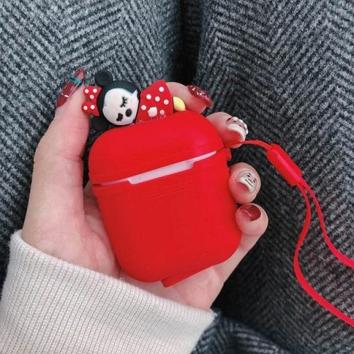 Red Baby Minnie AirPods Case Shock Proof Cover