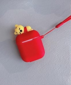 Red Baby Pooh AirPods Case Shock Proof Cover