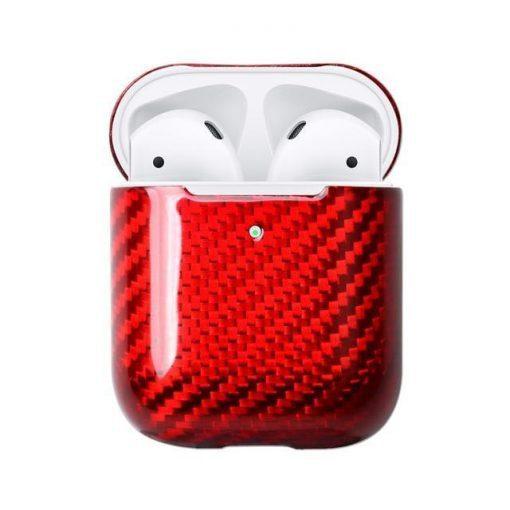 Red Carbon Fiber Premium AirPods Case Shock Proof Cover