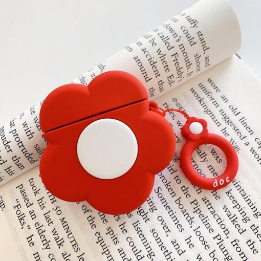 Red Flower Premium AirPods Case Shock Proof Cover