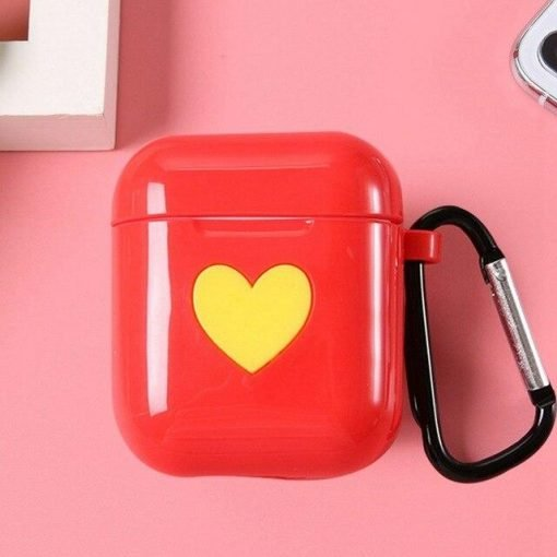 Red Heart AirPods Case Shock Proof Cover