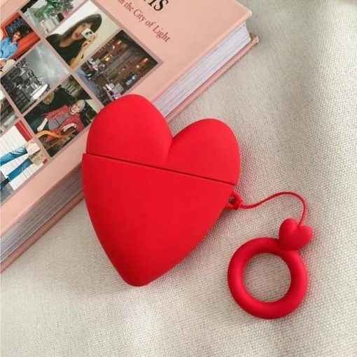 Red Heart Premium AirPods Case Shock Proof Cover