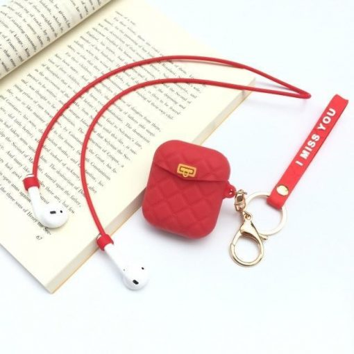 Red Pocketbook AirPods Case Shock Proof Cover