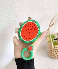 Round Watermelon Premium AirPods Case Shock Proof Cover