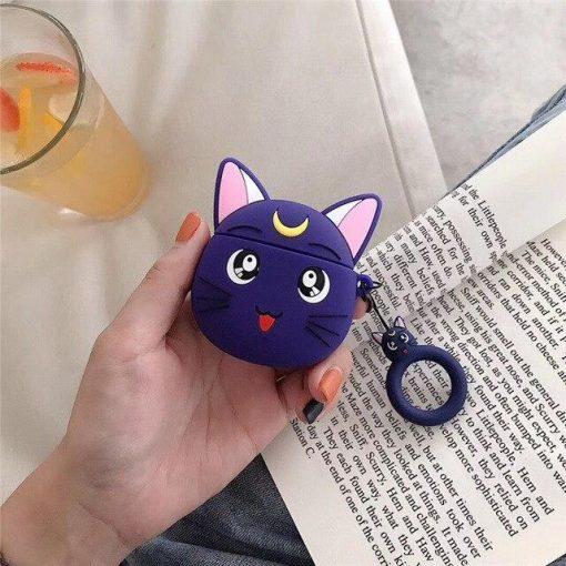 Sailor Moon Luna 'Purple' Premium AirPods Case Shock Proof Cover