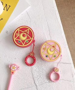 Sailor Moon Pink Crystal Star Premium AirPods Case Shock Proof Cover