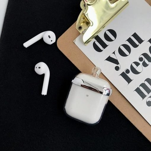 Silver Clear Acrylic Perfume Bottle AirPods Case Shock Proof Cover