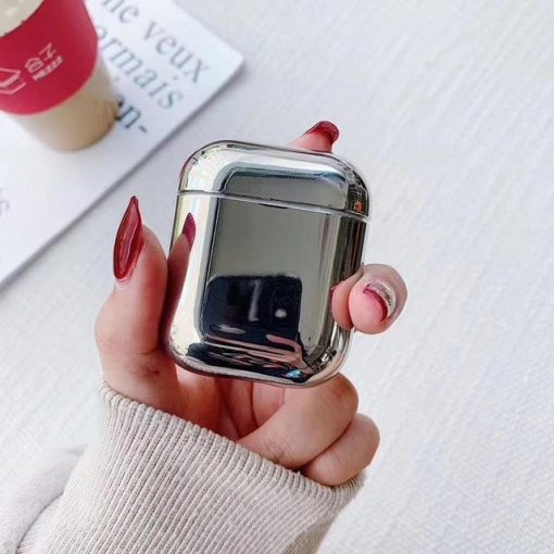 Silver Plated AirPods Case Shock Proof Cover