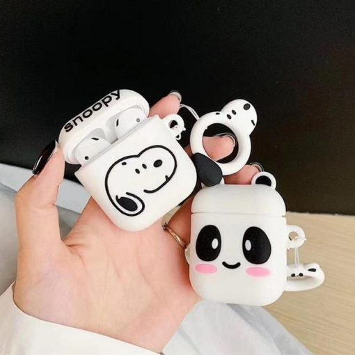 Snoopy Logo AirPods Case Shock Proof Cover