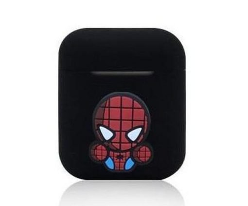 Spiderman Action Black AirPods Case Shock Proof Cover