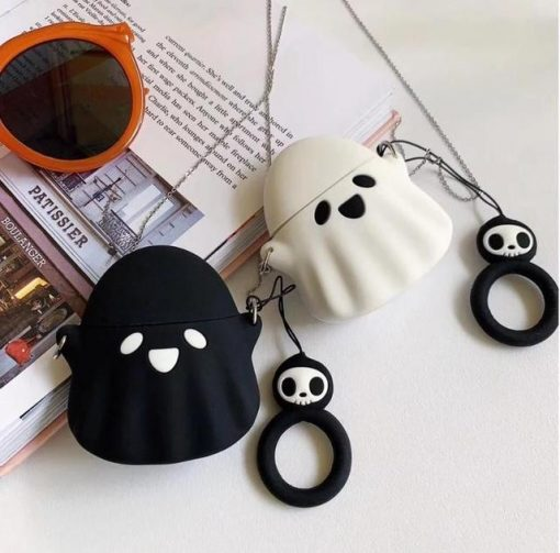 Spooky Ghost 'Clear' Premium AirPods Case Shock Proof Cover