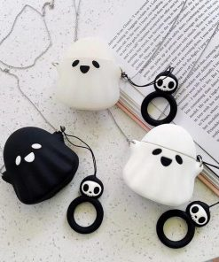 Spooky Ghost 'White' Premium AirPods Case Shock Proof Cover