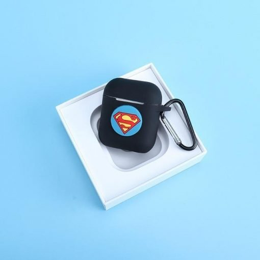 Superman Black AirPods Case Shock Proof Cover