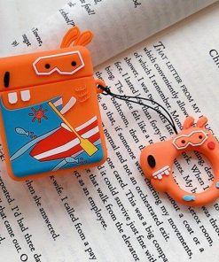 Surfing Giraffe AirPods Case Shock Proof Cover