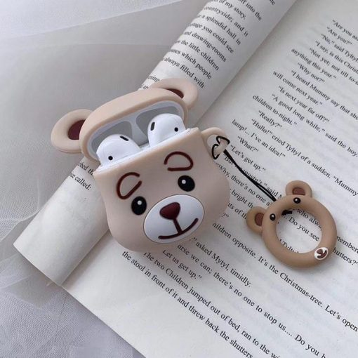 Tan Teddy Bear AirPods Case Shock Proof Cover