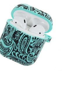 Teal Tribal AirPods Case Shock Proof Cover