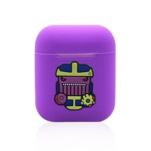 Thanos Action Purple AirPods Case Shock Proof Cover