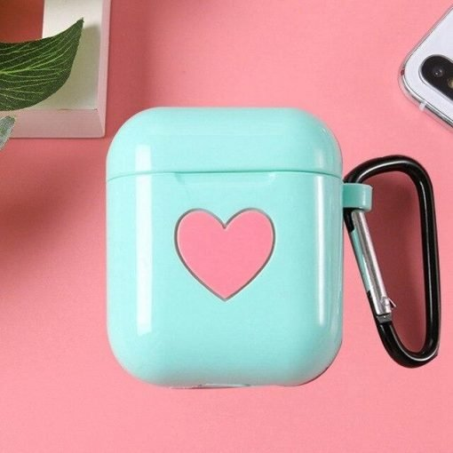 Tiffany Blue Heart AirPods Case Shock Proof Cover