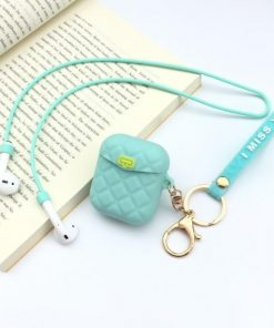 Tiffany Blue Pocketbook Air Pods Case Shock Proof Cover