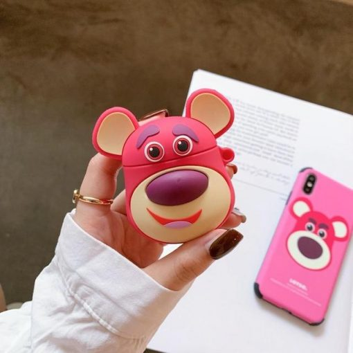 Toy Story Lotso with Ears Premium AirPods Case Shock Proof Cover