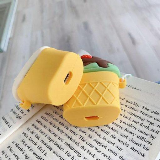 Vanilla w/ Chocolate Fudge Ice Cream Cone Premium AirPods Case Shock Proof Cover