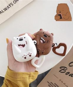 We Bare Bears Grizzly Bear Premium AirPods Case Shock Proof Cover