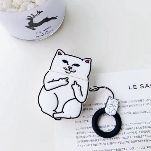 White Cat Premium AirPods Case Shock Proof Cover