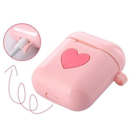 White Heart AirPods Case Shock Proof Cover