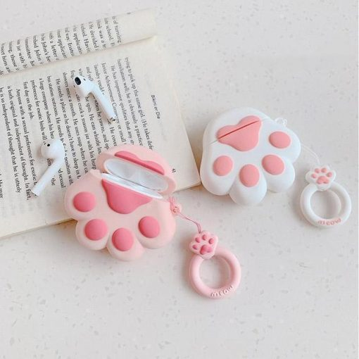 White Paw AirPods Case Shock Proof Cover