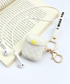 White Pocketbook AirPods Case Shock Proof Cover