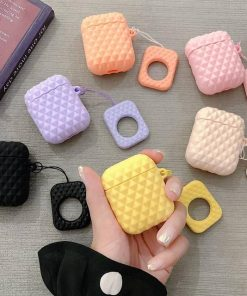 White Textured AirPod Case Shock Proof Cover