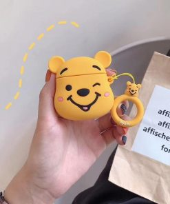 Winking Winnie the Pooh Premium AirPods Case Shock Proof Cover