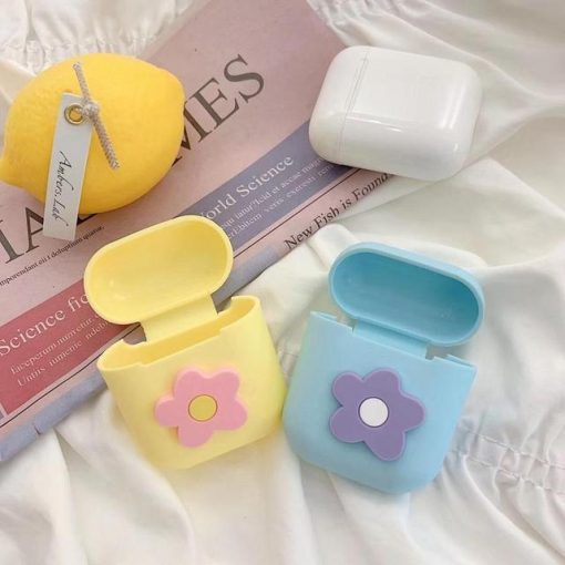Yellow Flower AirPods Case Shock Proof Cover