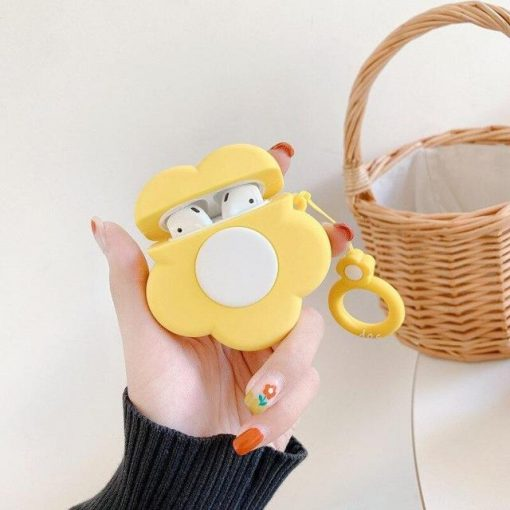 Yellow Flower Premium AirPods Case Shock Proof Cover
