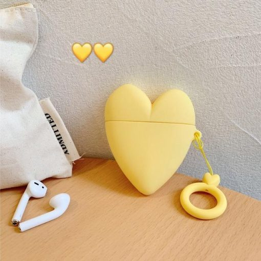 Yellow Heart Premium AirPods Case Shock Proof Cover