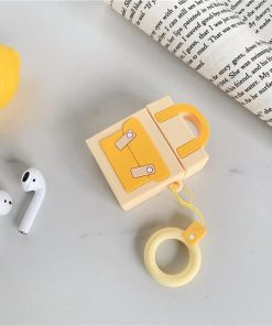 Yellow Pocketbook Premium AirPods Case Shock Proof Cover