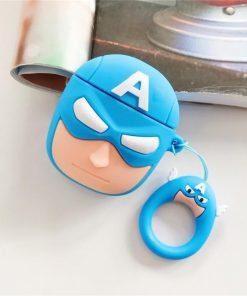 Captain America 'Comic' Premium AirPods Case Shock Proof Cover