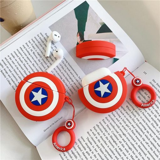 Captain America 'Rounded Shield' Premium AirPods Case Shock Proof Cover