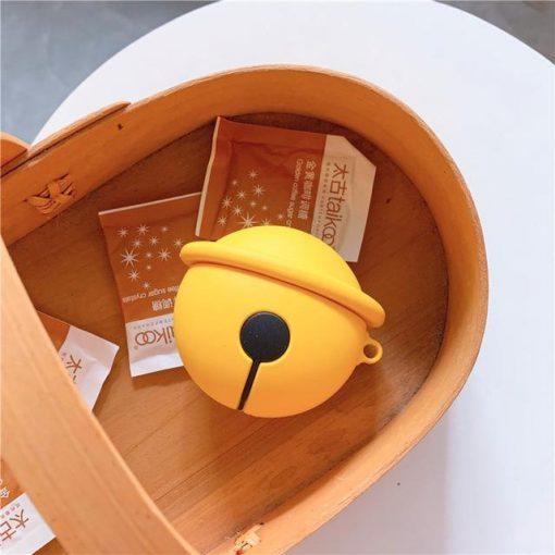 Doraemon 'Gold Bell' Premium AirPods Case Shock Proof Cover