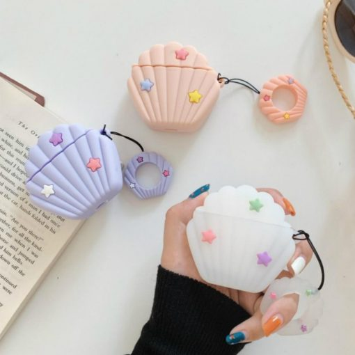 Green Seashell Premium AirPods Case Shock Proof Cover