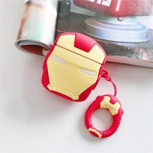 Iron Man Helmet Premium AirPods Case Shock Proof Cover
