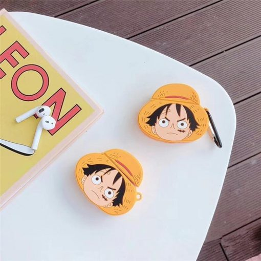 """One Piece Monkey D. """"Straw Hat"""" Luffy Premium AirPods Case Shock Proof Cover"""
